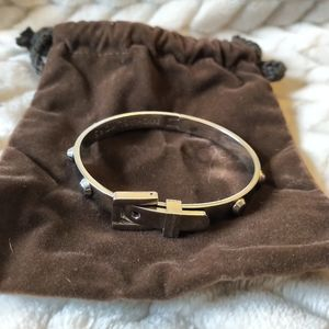Michael Kors Jewelry - Michael Kors silver belt buckle bracelet.